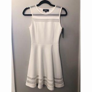 White Ivory Lulu's Skater Dress